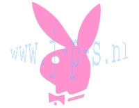 STICKER PLAYBOY MIDDEL ROZE