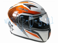 HELM STAGE 6 RACING MK 2 WIT/ORANJE M